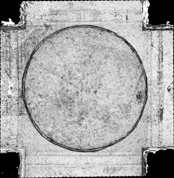 Carte de corrélation de la voûte de croisée du transept de église Saint-Pierre à Nevers