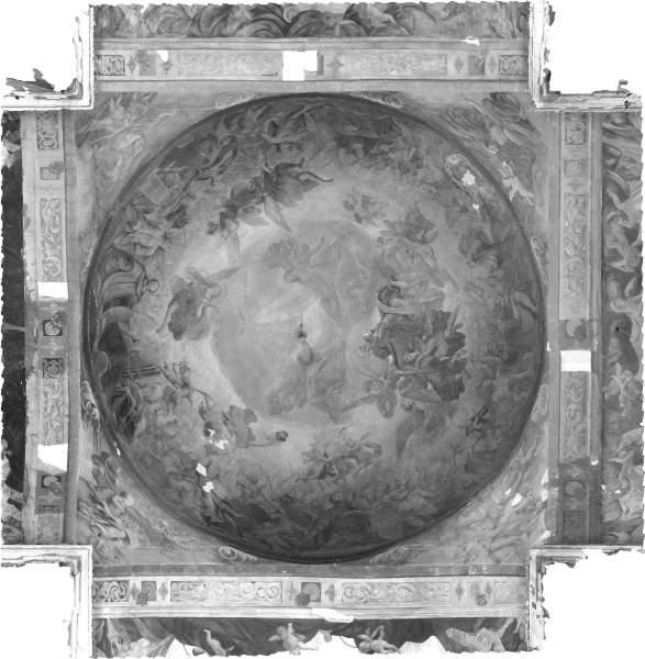 Orthophotographie de la voûte de croisée du transept de église Saint-Pierre à Nevers