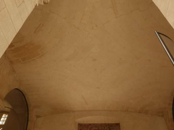 Vue générale de la voûte de vestibule de noviciat des Jésuites Saint-Louis à Avignon