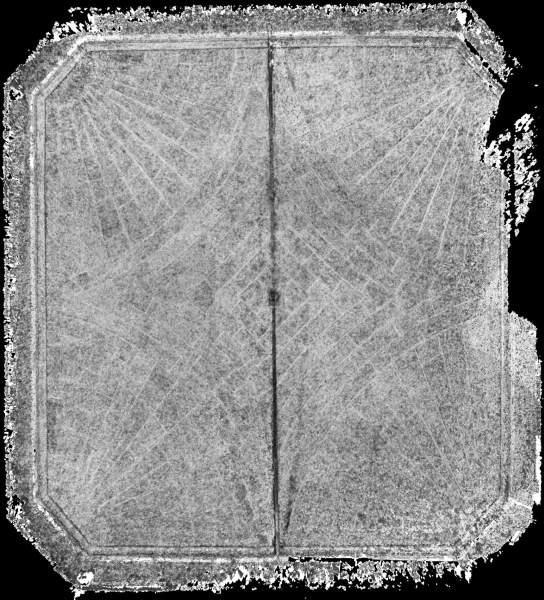 Carte de corrélation de la voûte de vestibule de musée Calvet à Avignon