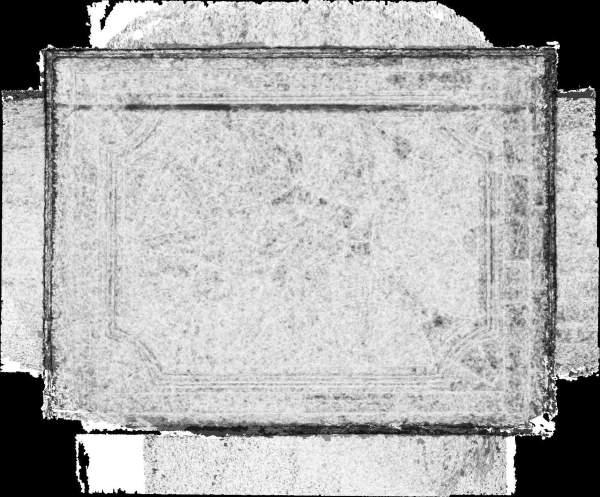Carte de corrélation de la voûte de vestibule d'entrée de séminaire Saint-Charles à Avignon
