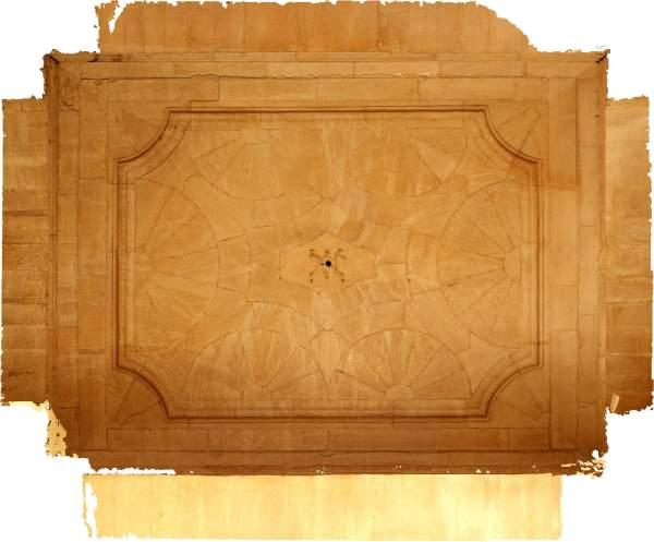 Orthophotographie de la voûte de vestibule d'entrée de séminaire Saint-Charles à Avignon