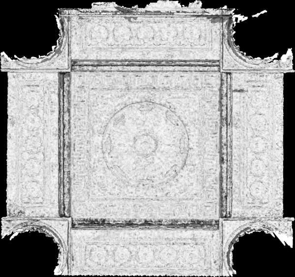 Carte de corrélation de la voûte de porche de église Saint-Sulpice à Paris