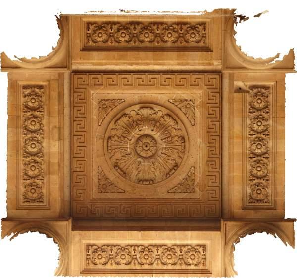 Orthophotographie de la voûte de porche de église Saint-Sulpice à Paris