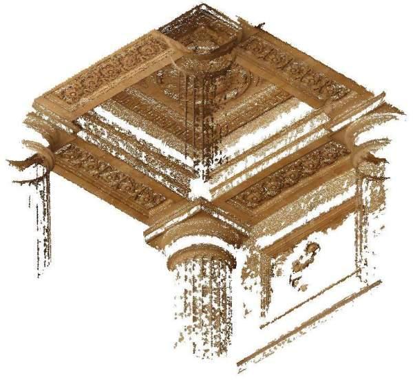 Nuage de point de la voûte de porche de église Saint-Sulpice à Paris