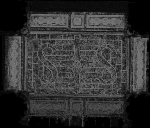 Carte de recouvrement (Cptr) de la voûte de travée centrale de la tribune d'orgue de église Saint-Sulpice à Paris
