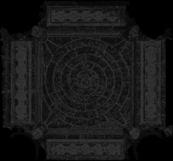 Carte de recouvrement (Cptr) de la voûte de travée sud de la tribune d'orgue de église Saint-Sulpice à Paris