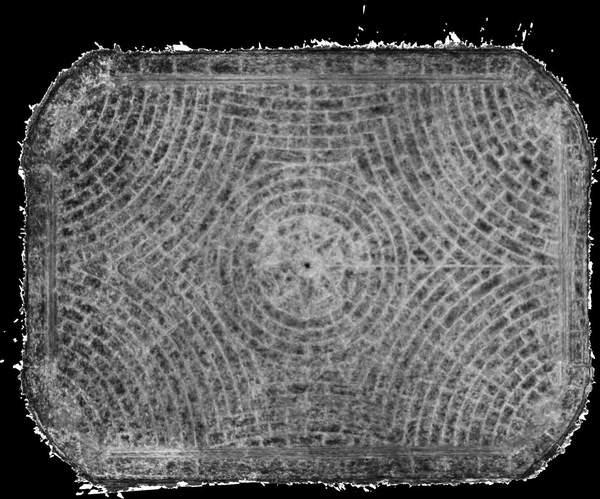 Carte de corrélation de la voûte de grand salon de château à Barbentane