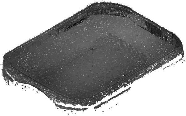 Isométrie contre-plongeante du nuage de point de la voûte de grand salon de château à Barbentane