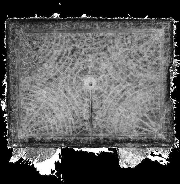 Carte de corrélation de la voûte de aile orientale de château à Barbentane