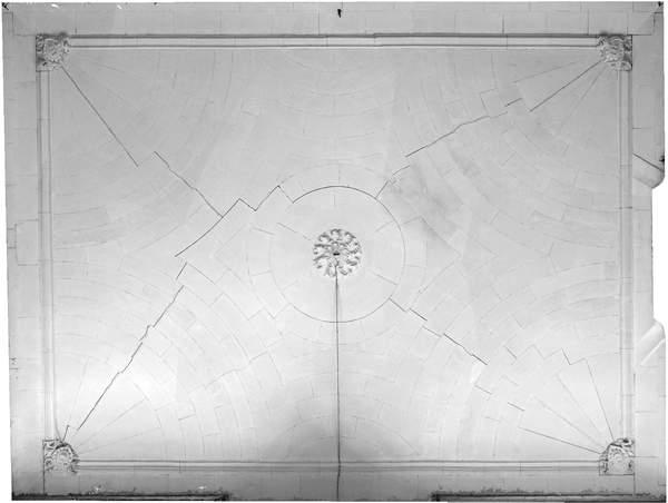 Orthophotographie de la voûte de aile orientale de château à Barbentane