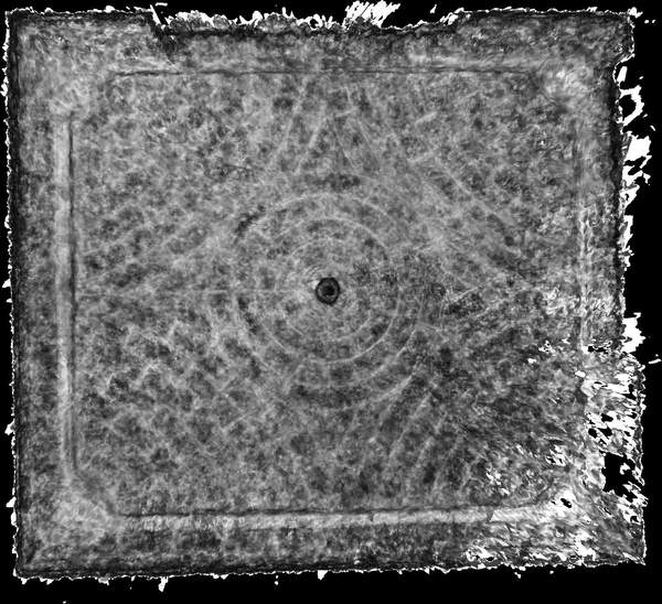 Carte de corrélation de la voûte de aile occidentale de château à Barbentane