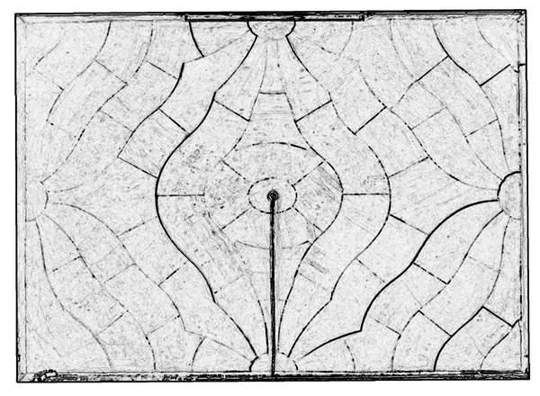 Orthophotographie avec extraction automatique des contours de la voûte de sacristie de la chapelle de Hôtel-Dieu à Carpentras