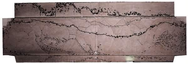 Lignes de niveaux (Delta h=0.02\,m) de la voûte de tribune de la chapelle de Hôtel-Dieu à Carpentras