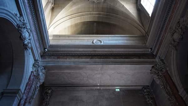 Vue générale de la voûte de tribune de la chapelle de Hôtel-Dieu à Carpentras