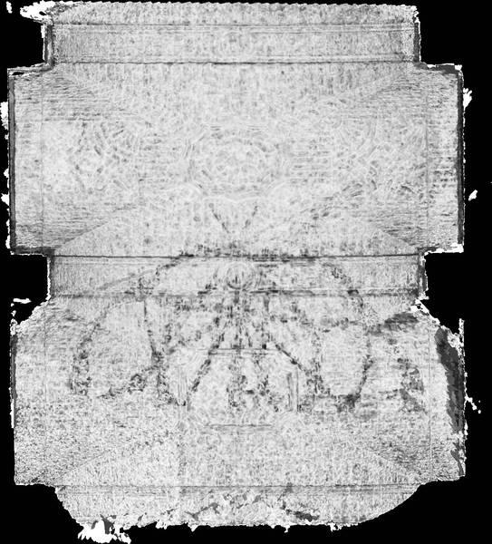 Carte de corrélation de la voûte de deuxième travée de la nef de cathédrale Saint-Vincent à Viviers