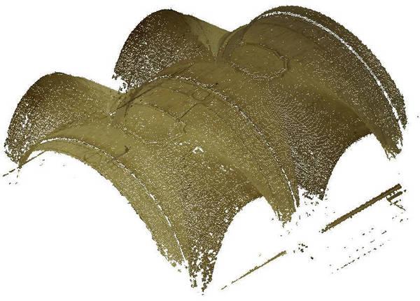 Nuage de point de la voûte de deuxième travée de la nef de cathédrale Saint-Vincent à Viviers