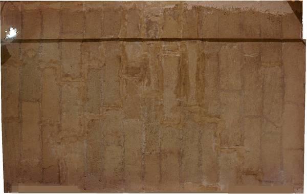 Orthophotographie de la voûte de travée nord de la tribune de église de la ville haute à Vaison-la-Romaine