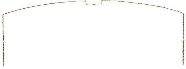 Coupe transversale (YZ) de la voûte de salle dite