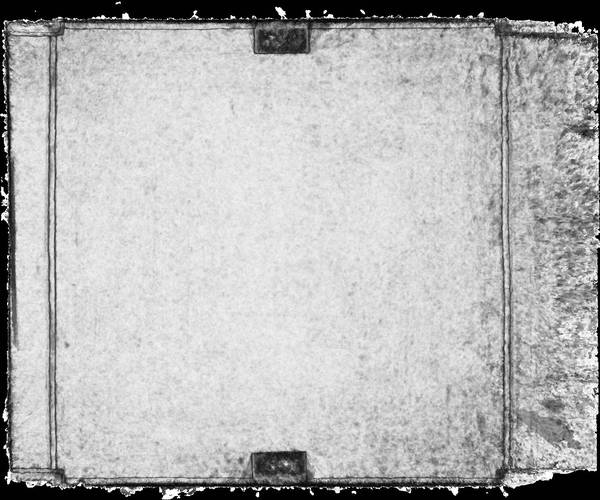 Carte de corrélation de la voûte de vestibule de ancien couvent des Dominicains à Carpentras
