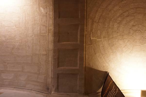 Vue des voûtes des deux travées du vestibule de la voûte de vestibule de ancien couvent des Dominicains à Carpentras