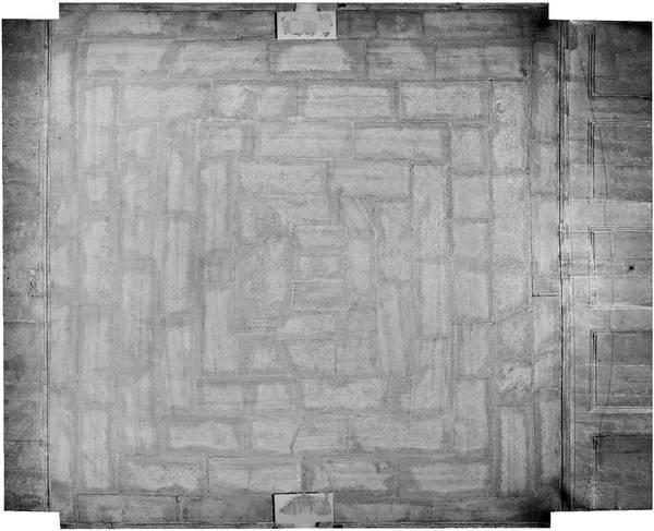 Orthophotographie de la voûte de vestibule de ancien couvent des Dominicains à Carpentras