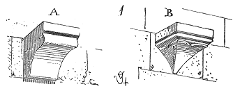 Corbeau et cul-de-lampe d'après Viollet-le-duc