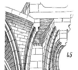 Détail d'un arc formeret bourguignon d'après Viollet-le-Duc