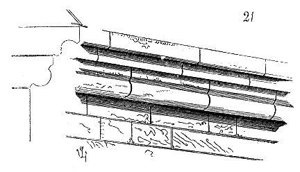Corniche gothique à deux assises d'après Viollet-le-Duc 1860