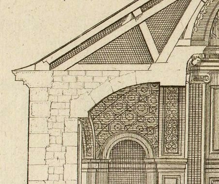 Chapelle du château du S\abbr{r} Ensselin d'après Marot 1727