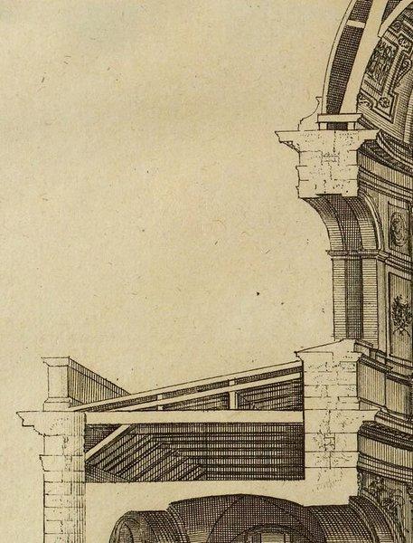 Eglise du Collège des quatre Nations d'après Marot 1727