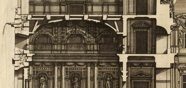 Profil du grand vestibule du Louvre d'après Marot 1727