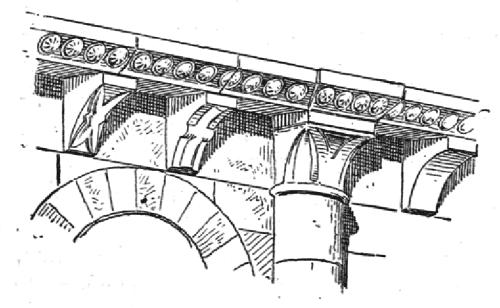 Corniche romane à modillons d'après Planat 1888