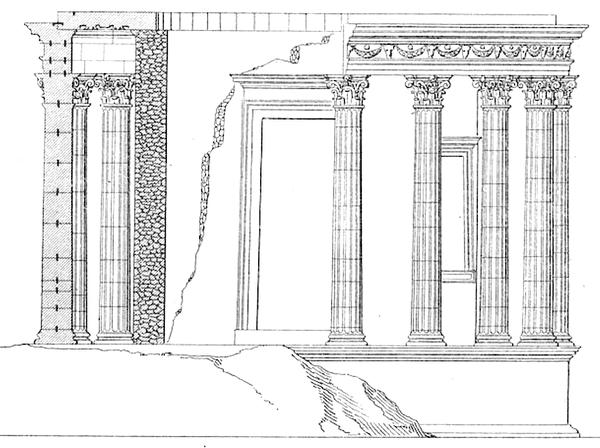 Temple de Tivoli d'après Rondelet