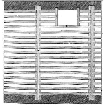 Plancher à la française avec retombée de poutre dans Art de Bâtir de Rondelet
