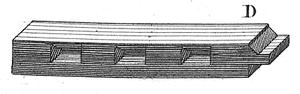 Chevêtre avec tenon et mortaise à mordâne dans Art de Batir de Rondelet