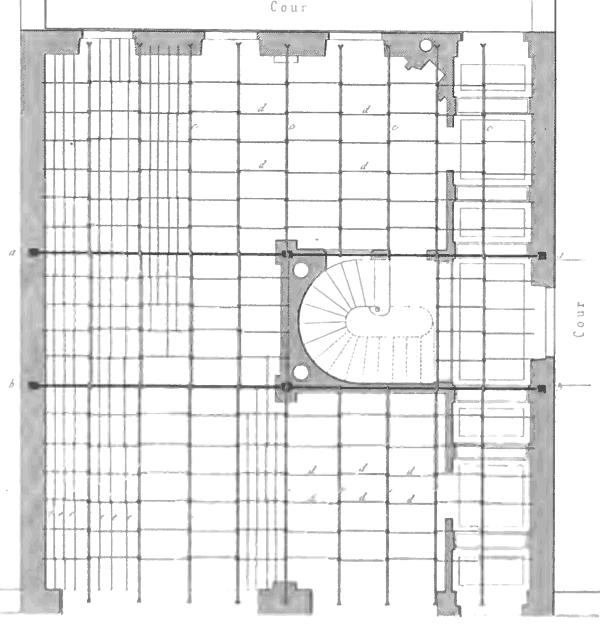 Treillage métallique d'un plancher à fermette