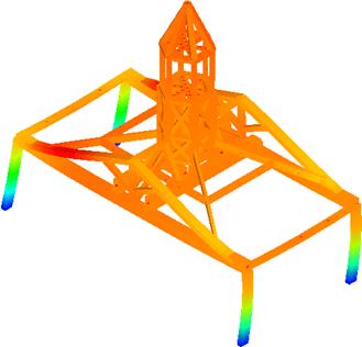 Modèle de charpente du campanile de l'ancienne école des institutrices à Rouen