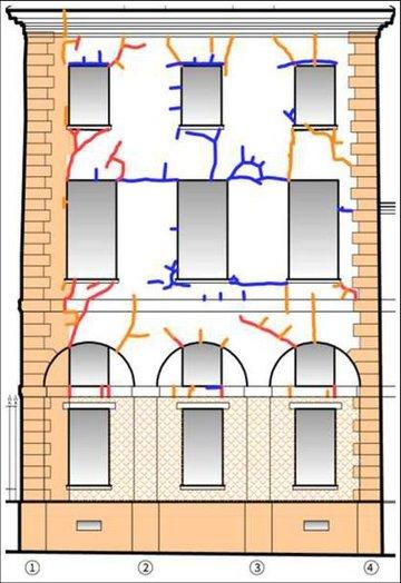 Analyse fissures sur façade de la caserne d'Artois à Versailles