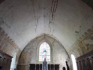Revigny, voûte en berceau avec peintures médiévales de l'église paroissiale